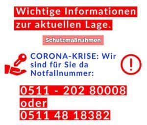 Corona-Schlüsseldienst-Hannover-Massnahmen